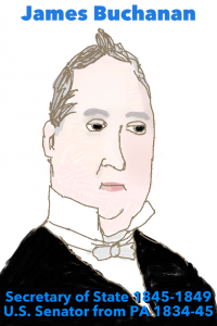 Buchanan, 15th President of the United States (1857-1861) was also Minister to the UK (Court of St. James).