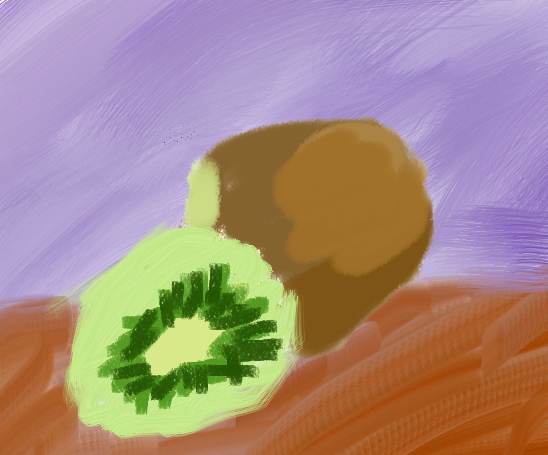 Kiwifruit, by Nick Dupree, painted November 2nd, 2013, in Corel Painter